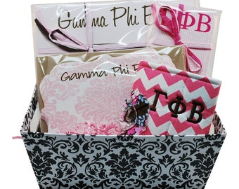 Gamma Phi Beta Sorority Gift Basket - Style 3