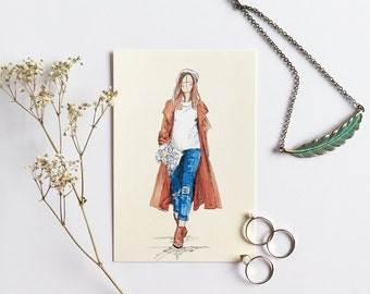 Warm & Cosy; Fashion Illustration; Art Print