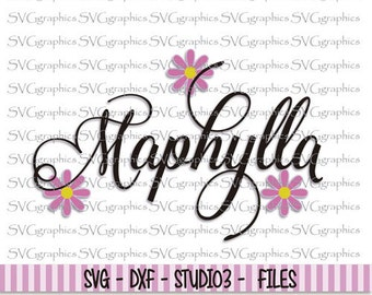30%OFF- Svg, dxf files, instant download, scrapbooking, vector graphic for silhouette Cameo, cricut - 121- Maphylla svg font