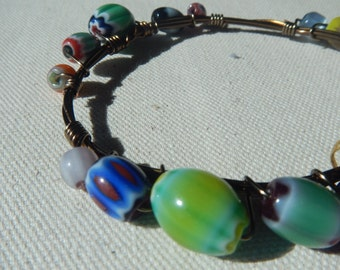 Beaded Copper Bracelet