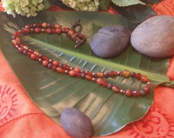Crystal and Ceramic Bead Necklace