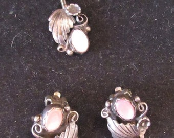 Mother Of Pearl Native Style Sterling Silver Pendant Clip Back Earring Lot (100)