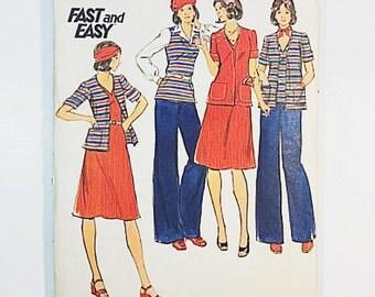 70s Dress Pants Pattern   Butterick 4132 Misses Jacket Dress & Pants Pattern   70s Sewing Pattern