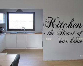 Kitchen heart of our home Inspirational  vinyl wall decor decoration Sticker family words  decal sticker cheap kitchen decorative Removable