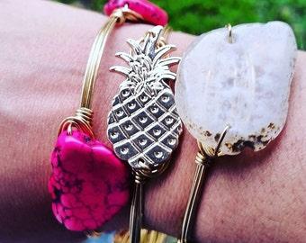 Gold Pineapple Bangle