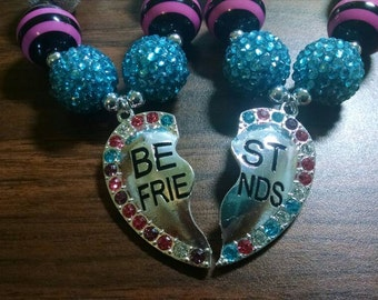 Best Friends Toddler Bubblegum Necklace set
