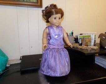 Modern deep purple  satin - lavender toole overlay gown