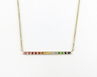 14K Gold Rainbow Collection Necklace