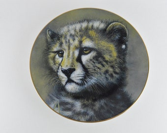 1991 Cheetah Cub, Cubs of the Big Cats Plate Collection #17124