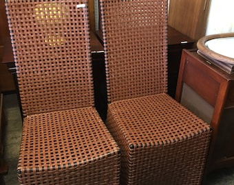 LEATHER WOVEN ARMLESS Chairs