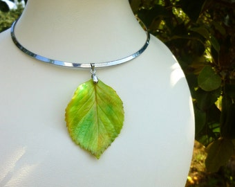 Yellow necklace Autumn jewelry Autumn necklace Leaves jewelry Leaves necklace Autumn leaf Unique jewelry Yellow leaf jewelry Unique gift