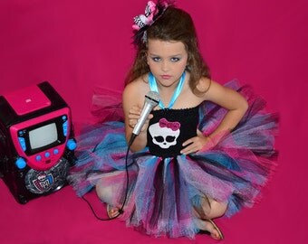 Monster high tutu dress // Monster high birthday party dress // Monster high costume outfit