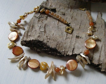 Shell necklace - natural pure in 48 cm