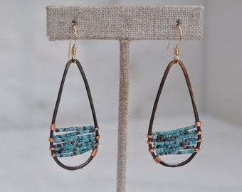 Wire wrapped statement earrings