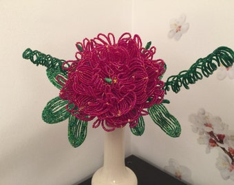 French Beaded Flower Peony