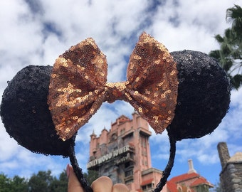 Black & Rose Gold Ears!