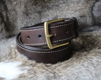 Full Grain Lined Leather Belt