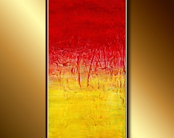 Abstract Art, Modern  Painting (Sunset): Textured Abstract Acrylic Painting Ready to hang, Original Modern Art, Abstract Impressionistic.