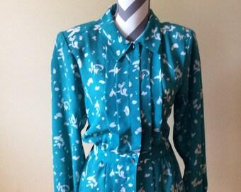 Vintage SK & Company blouse/ Peplum Blouse