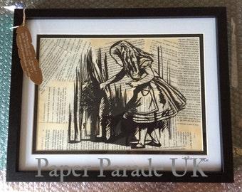 Alice in Wonderland, hand cut paper art, john tenniel, home decor, childrens decor, wall art, papercutting
