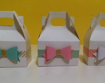 10 Mini Gable Boxes- Will you be my Bridesmaid?, Favor Box, Sweet Sixteen, Baby Shower