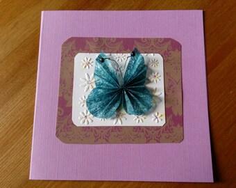 Handmade butterfly greetings card
