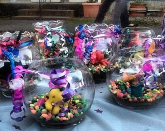 Little mermaid fish bowl party favor