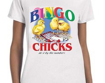Bingo Chick Novelty Tee-Shirt