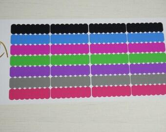 Scallop label boxes // 28 stickers - Instyle colour scheme