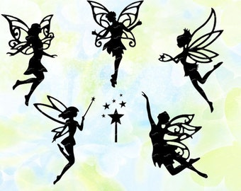 Fairy svg, dxf, eps, studio v3, jpeg, png, file for Silhouette Cameo, Curio, cut file for cutting machines, vector, instant download