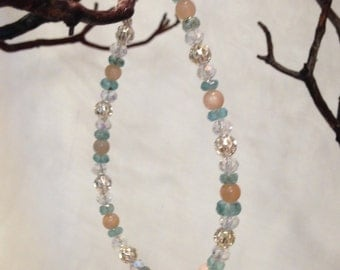 Sunstone with Apatite Bracelet