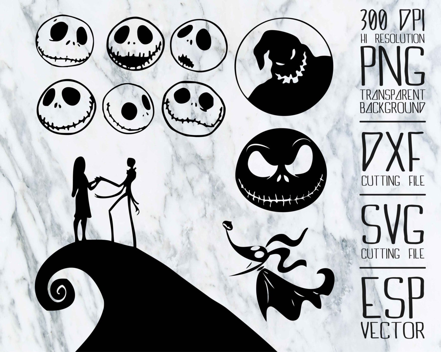 nightmare before christmas svg files free | Supercoloring.me