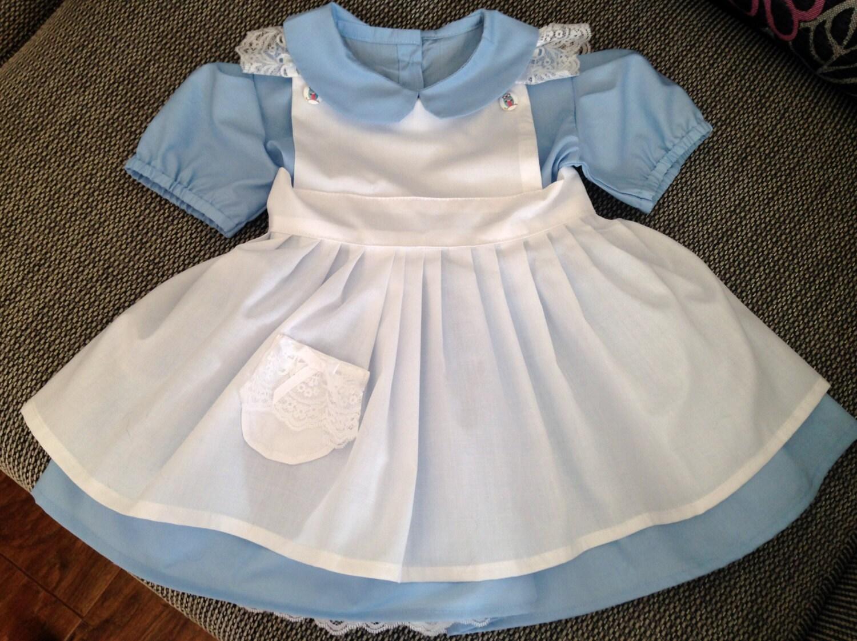 Baby Girls Handmade Alice In Wonderland Dress by