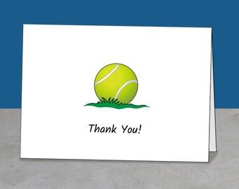 Thank You Tennis, Coach, Mentor, Team Gift, Coach Thank You, Tennis Card, Coach Card, Tennis Party, Simple Card, Greeting Card