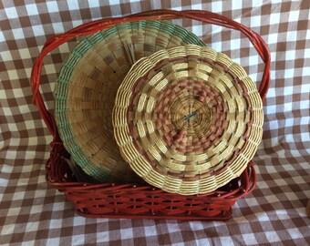 Vintage MicMac North American Indian Native sewing basket Micmac storage