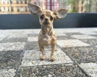 Handpainted Chihuahua Dog Sculpture
