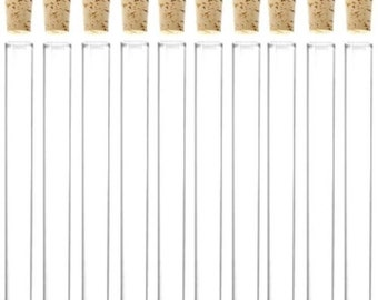 100 x 11ml Plastic Test Tubes With Corks / Party Favours