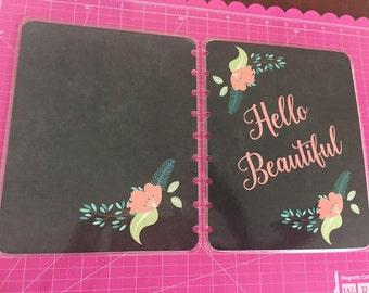 Planner cover/ chalkboard/ plan/pink.