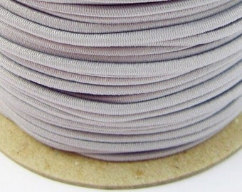 5, 10, 50 m rubber cord 3 mm light grey