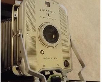 Vintage Polaroid 95A Speedliner Camera Hard Case/Flash Film Bulbs - Amazing Condition