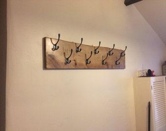 Handmade oak coat rack