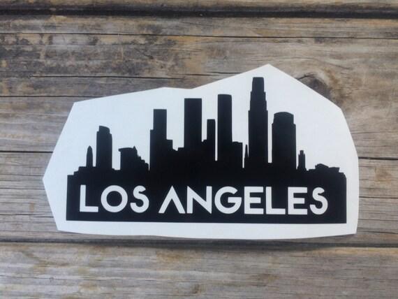 Los Angeles Skyline Vinyl Sticker Car Stickers Car Decals
