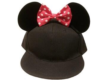 Minnie Mouse Ears Snapback
