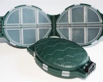 Portable Plastic Turtle Shaped 12 Compartment