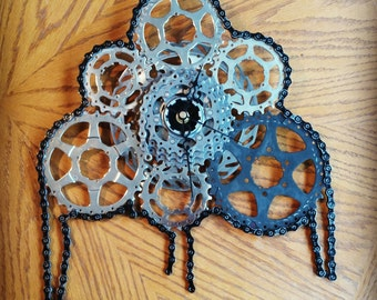Recycled Bicycle Gear Clock