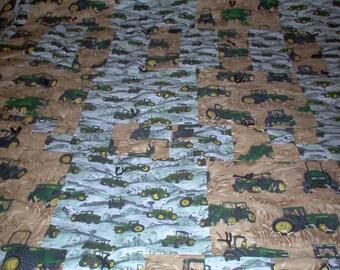 Handmade Quilt Using John Deer Fabric