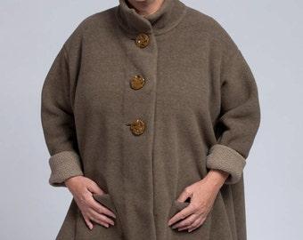 Fleece Swing Coat Size Medium/Large(10-14)  One of a Kind Fabric