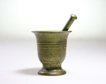 Old Brass Mortar mini heavy vintage Mortar