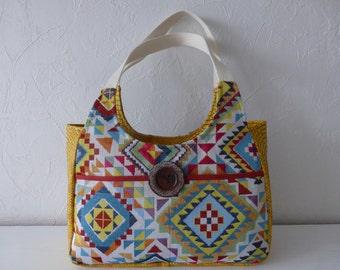 Ethnic spirit jacquard woven handbag