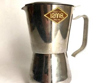 Vintage Irmel Nova Espress 18/10 stainless steel stovetop Italian espresso maker macchinetta moka pot